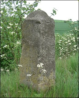 detail of Ixworth milestone at TL941712