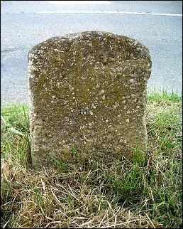 detail of Needham milestone at TM225815
