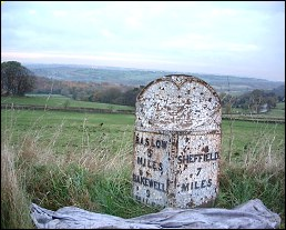 detail of Trickwell Lodge milepost at SK296785