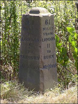 detail of Bridge Street milestone at TL877489