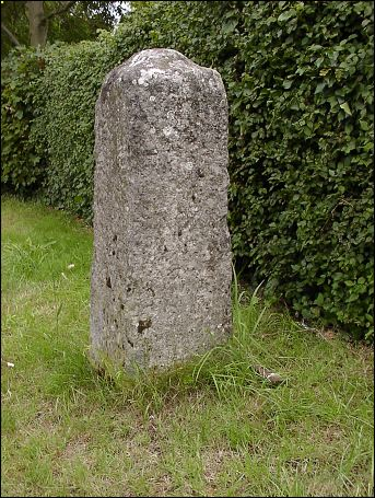 extra detail of Great Barton milestone at TL892672