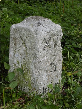 detail of Haughley milestone at TM006624