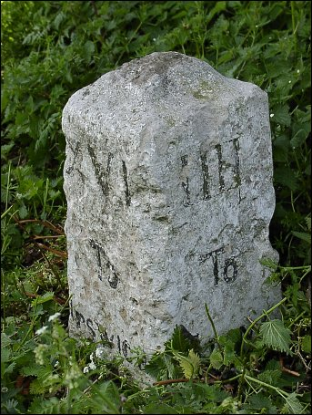extra detail of Haughley milestone at TM006624