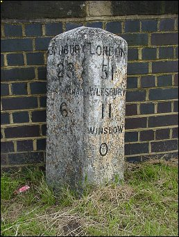 detail of Winslow milestone at SP767284
