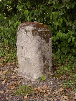 detail of Stotfold milestone at TL240351