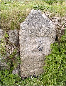 detail of Sennen School milestone at SW362262