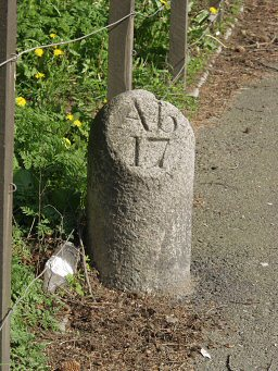 extra detail of Inverurie milestone at NJ765227