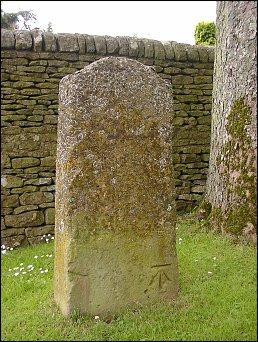 detail of Stow milestone at SP190261